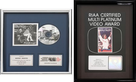 89044: Whitney Houston CRIA (Canadian) Platinum Sales A