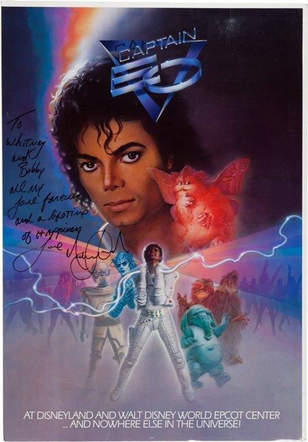 89070: Whitney Houston - Michael Jackson Signed and Ins