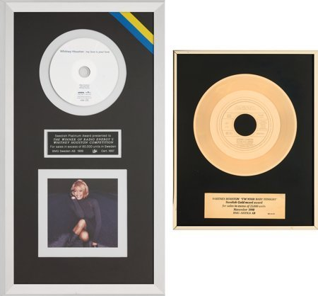 89087: Whitney Houston IFPI (Swedish) Sales Awards (Two