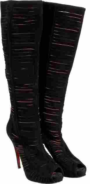 89116: Whitney Houston Christian Louboutin Suede Boots