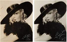 89194: A Mae West Set of Signed Black and White Photogr