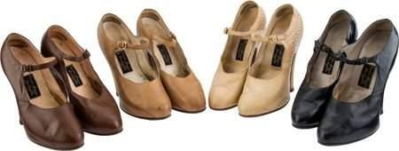 89201: A Mae West Group of High Heels, Circa 1930s. Fou
