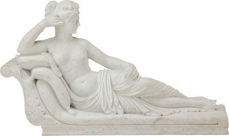 61246: A Marble Sculpture after Antonio Canova: Pauline