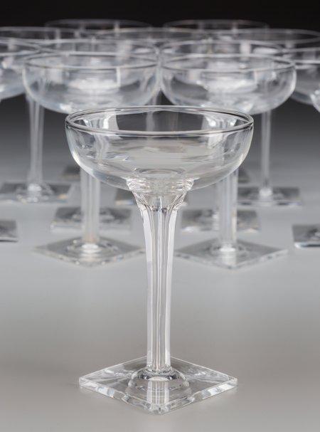 61327: Twelve Walter Dorwin Teague for Steuben Crystal