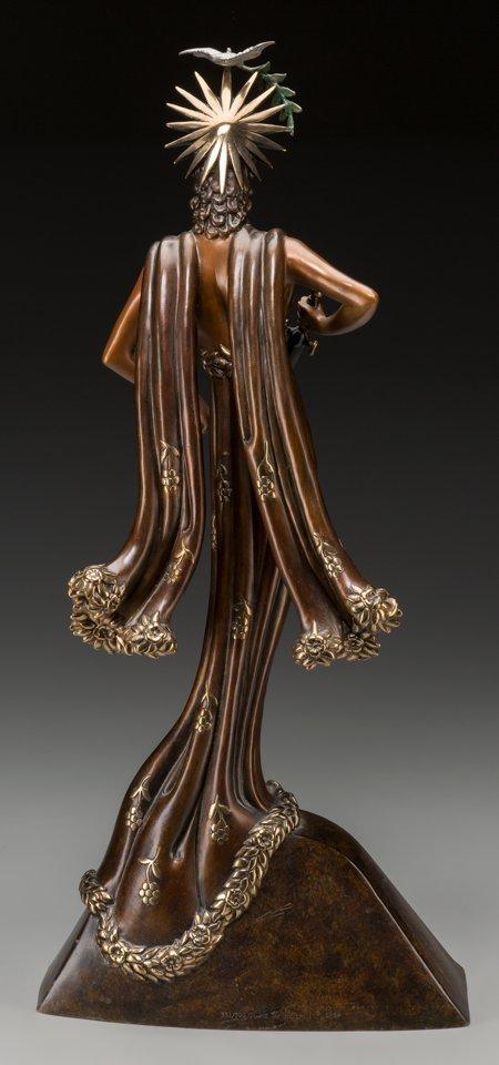 61337: An Erté Cold Painted Bronze Sculpture: Peace, ci - 2