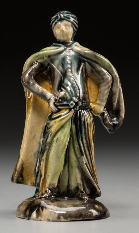 61018: A Whieldon Pottery Figure: Cloaked Turk, Fenton