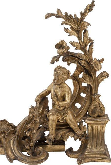 61108: A Three-Piece Louis XVI-Style Gilt Bronze Figura - 2