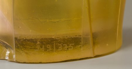 61351: A Large Daum Pink and Yellow Pate-de-Verre Glass - 3