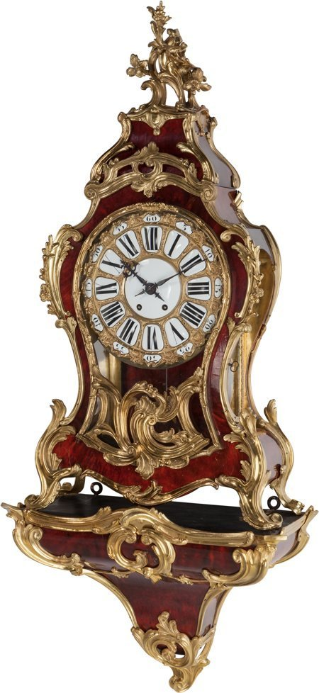 61115: A Large Louis XIV-Style French Gilt Bronze and L