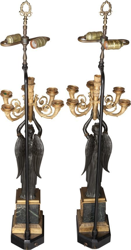 61233: A Pair of Empire-Style Gilt and Patinated Bronze - 2