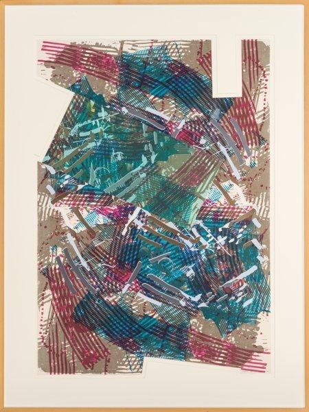 61642: Sam Gilliam (American, b. 1933) Golden Neck, 199 - 2