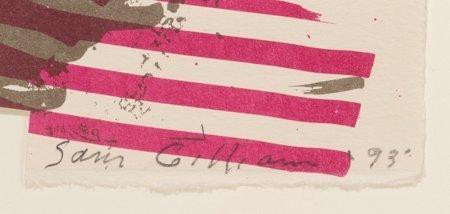 61642: Sam Gilliam (American, b. 1933) Golden Neck, 199 - 3