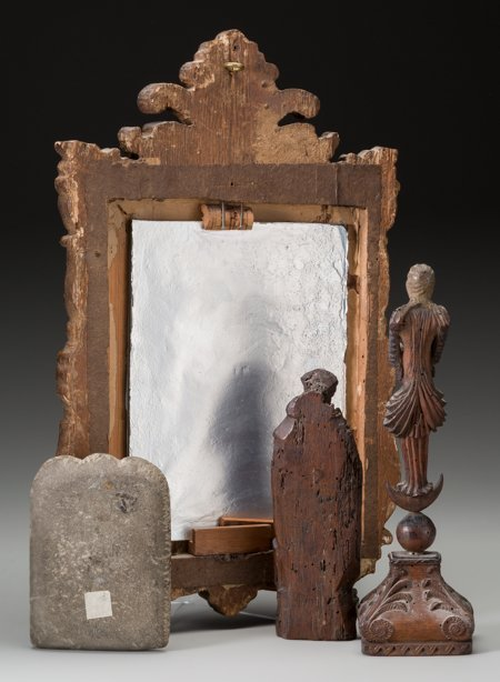61871: A Baroque Mirror, Medieval Stone Stele, and Carv - 2