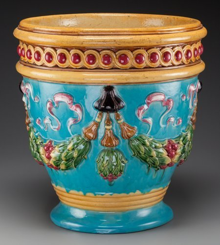 61786: A Large Zsolnay Polychromed Majolica Planter, 20