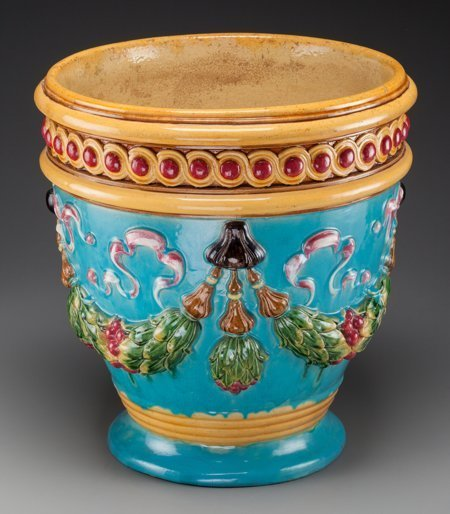 61786: A Large Zsolnay Polychromed Majolica Planter, 20 - 2