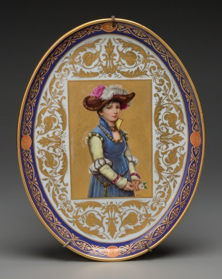61804: A Royal Vienna Partial Gilt and Painted Porcelai