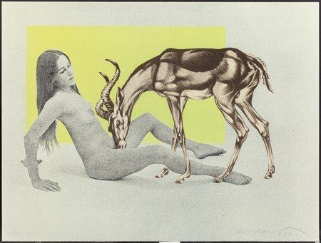 62099: Mel Ramos (American, b. 1935) Girl with Antelope - 3
