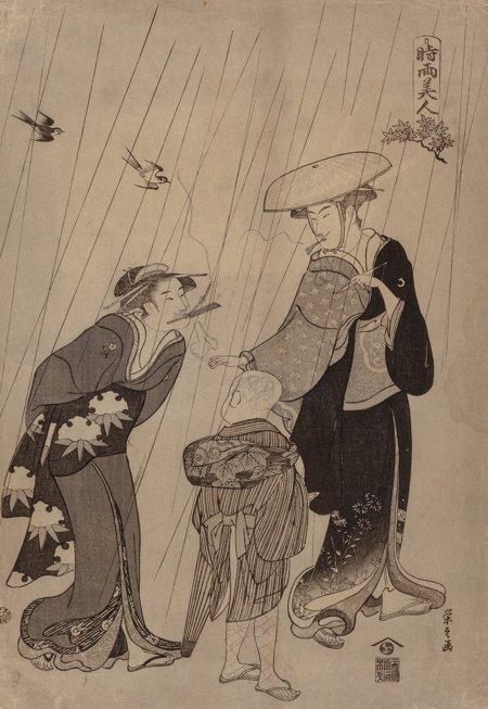 61920: Group of Five Woodblock Prints Japanese School   - 3