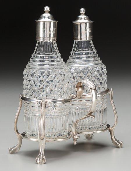 61847: A Thomas Daniell Georgian Silver and Cut-Glass C