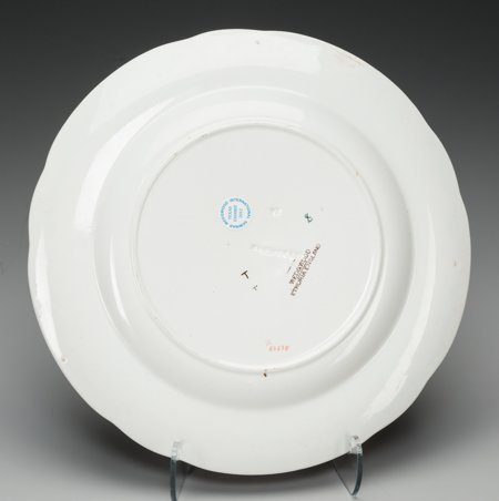 61756: A Wedgwood Oceanic Transferware Platter with Six - 3