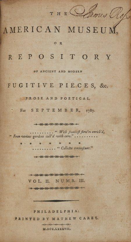45004: [United States Constitution]. [Mathew Carey, edi