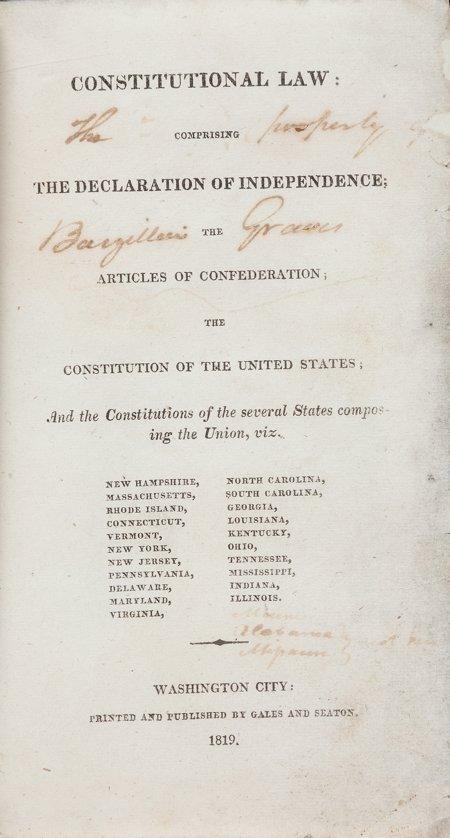 45006: [Constitution]. Constitutional Law. Comprising t