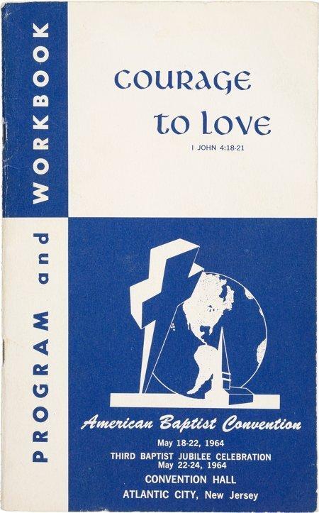 45011: [Martin Luther King, Jr.]. Program for 1964 Amer