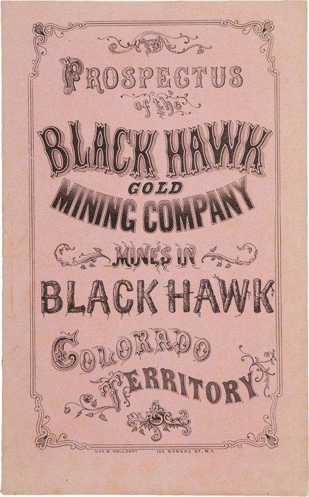 45023: [Colorado Gold Mining]. Prospectus of the Black