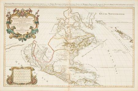 45070: Hubert Jaillot. Amerique Septentrionale divisée