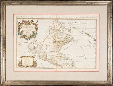 45070: Hubert Jaillot. Amerique Septentrionale divisée  - 2