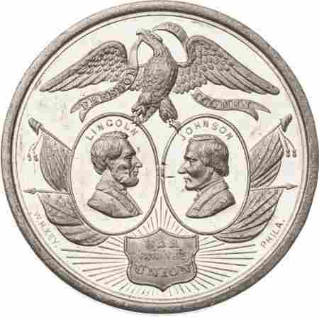 43184: Abraham Lincoln: The Largest 1864 Election Medal