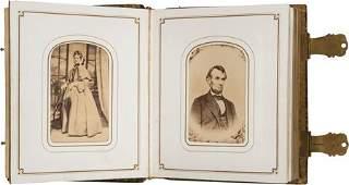 "43053: Abraham Lincoln: Carte-de-Visite Album. 5"" x 6"""