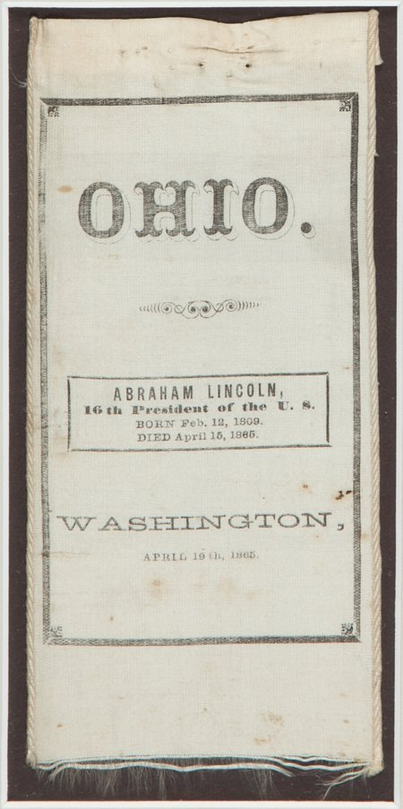 43238: Abraham Lincoln: A Unique Silk Ribbon Worn by Ho - 3