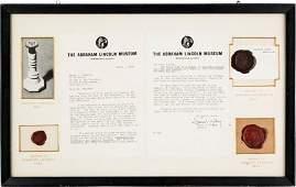 43152 Abraham Lincoln Presidential Seal Imprint Fra