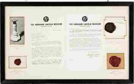 [Abraham Lincoln]: Presidential Seal Imprint Fra