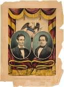 43153: Lincoln & Hamlin: Grand National Banner Jugate P