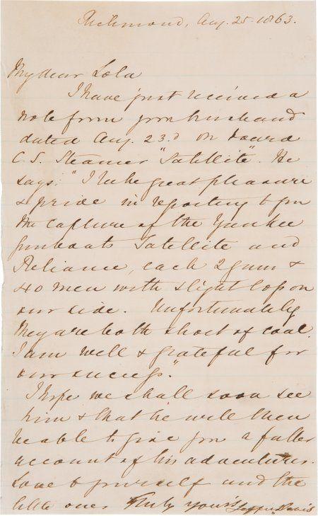 Jefferson Davis: War-Date Autographed Letter Sig