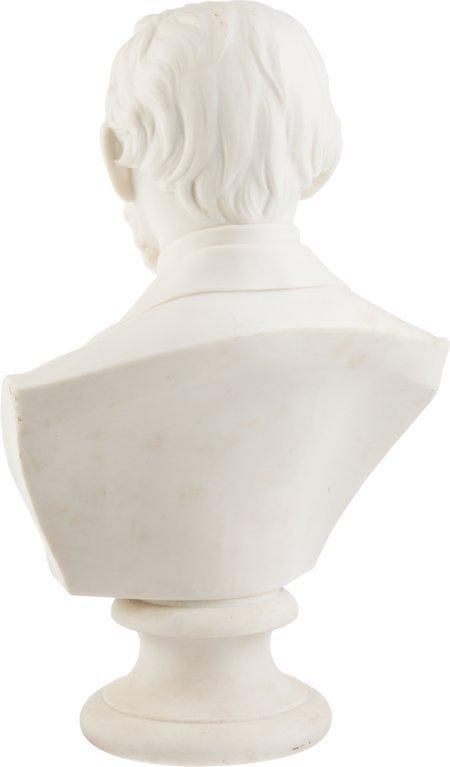 """43294: Abraham Lincoln: Parian Ware Bust. 12"""" parian bu - 2"""