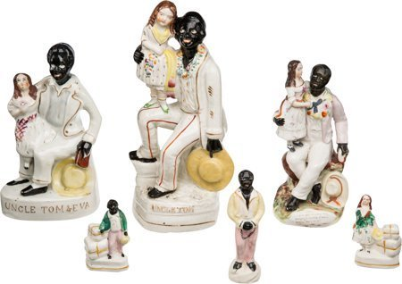 43349: Uncle Tom's Cabin: Six Staffordshire Figurines.