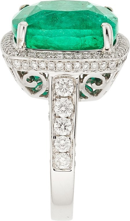 55117: Colombian Emerald, Diamond, White Gold Ring  The - 3