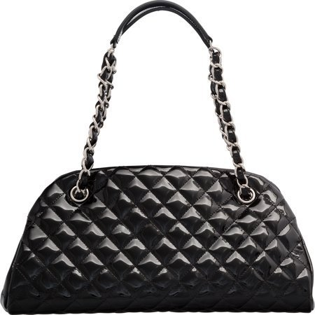 58036: Chanel Black Patent Leather Timeless Bag with Si - 2