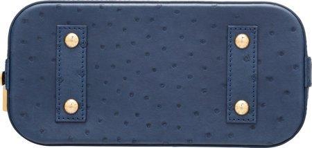 58078: Louis Vuitton Indigo Blue Ostrich Alma BB Bag Ex - 3