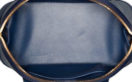 58078: Louis Vuitton Indigo Blue Ostrich Alma BB Bag Ex - 4