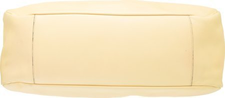 58071: Chanel Yellow Leather Shoulder Bag with Silver H - 3