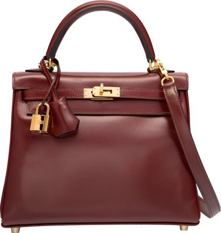 58312: Hermes 25cm Rouge H Calf Box Leather Retourne Ke
