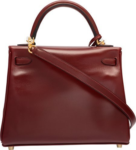 58312: Hermes 25cm Rouge H Calf Box Leather Retourne Ke - 2