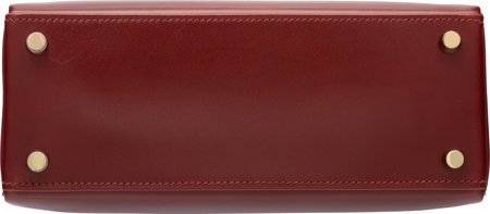58312: Hermes 25cm Rouge H Calf Box Leather Retourne Ke - 4