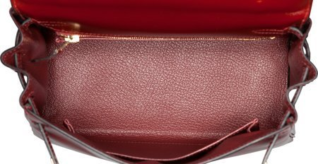 58312: Hermes 25cm Rouge H Calf Box Leather Retourne Ke - 5