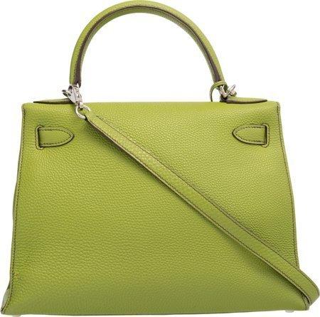 58147: Hermes 28cm Vert Anis Togo Leather Sellier Mou K - 2
