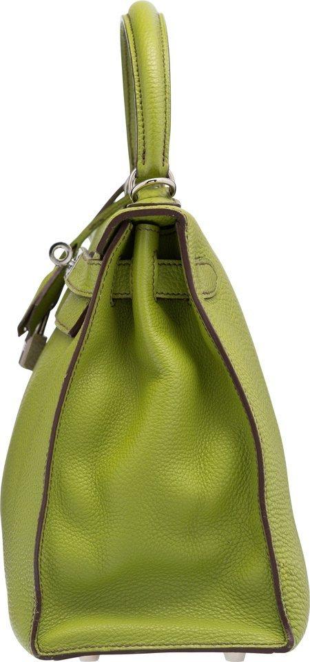 58147: Hermes 28cm Vert Anis Togo Leather Sellier Mou K - 3